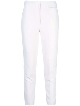 Milly high-waisted skinny trousers - White