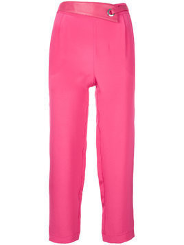 Max & Moi eyelet detail cropped trousers - PINK