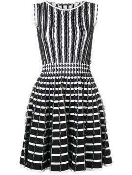 Antonino Valenti ruffle details striped dress - Black