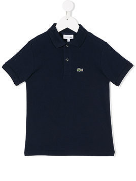 Lacoste Kids embroidered logo polo shirt - Blue