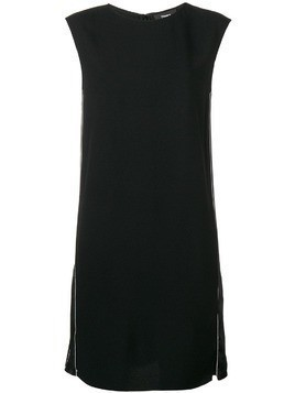 Theory side-stripe shift dress - Black