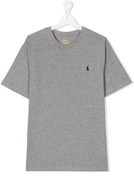 Ralph Lauren Kids TEEN embroidered logo T-shirt - Grey