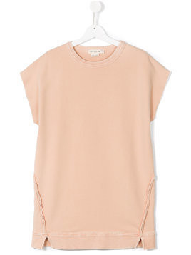 Andorine teen fleece sweatshirt dress - Nude & Neutrals