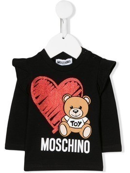 Moschino Kids Toy Bear jumper - Black