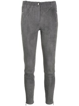 Arma skinny leather trousers - Grey