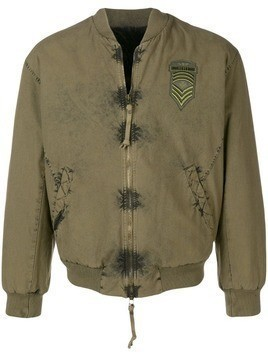 Mr & Mrs Italy logo patch bomber - Green