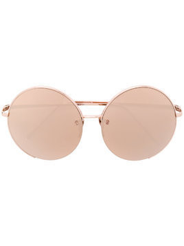 Linda Farrow round frame sunglasses - Metallic