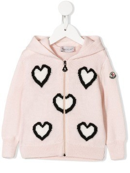 Moncler Kids hooded cardigan - Pink