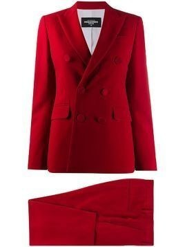 Dsquared2 red double-breasted trouser suit