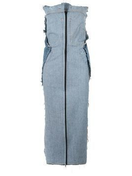 Litkovskaya raw edge denim dress - Blue