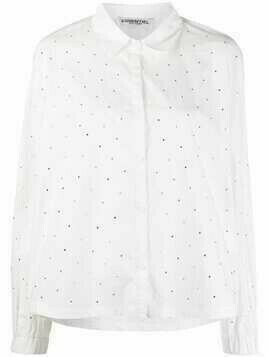 Essentiel Antwerp crystal-embellished cotton shirt - White