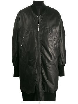 Isaac Sellam Experience long-line bomber jacket - Black