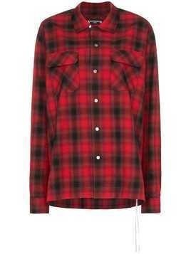 Mastermind Japan logo print check shirt - Red