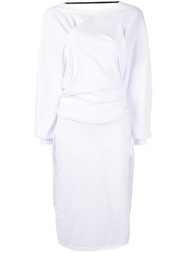 Aganovich draped midi dress - White