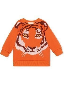 Gucci Kids tiger-print long-sleeve sweatshirt - ORANGE