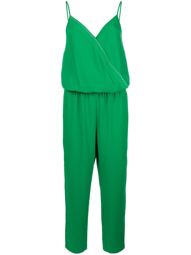 Liu Jo strappy wrap front jumpsuit - Green