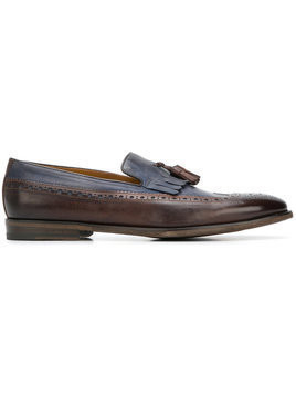 Doucal's - tassel-embellished loafers - Herren - Leather - 40 - Brown