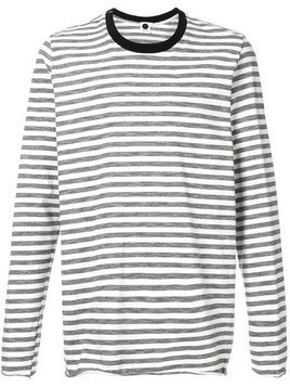 Bassike striped long-sleeved T-shirt - White
