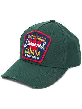 Dsquared2 logo patch baseball cap - Green
