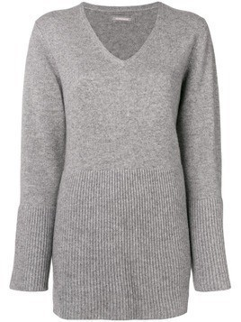 Hemisphere flared hem sweater - Grey