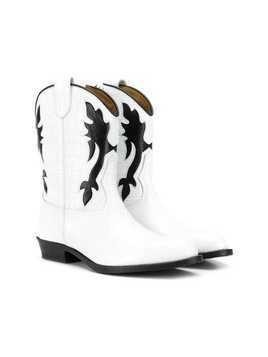 Gallucci Kids TEEN crocodile effect boots - White