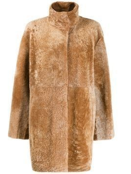 Drome stand-up collar coat - Brown