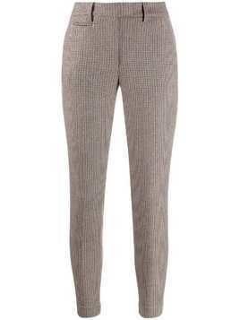 Dondup check print skinny trousers - Neutrals