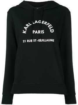 Karl Lagerfeld hooded sweatshirt - Black