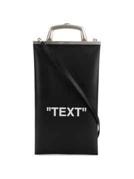 Off-White Text Market tote bag - Black