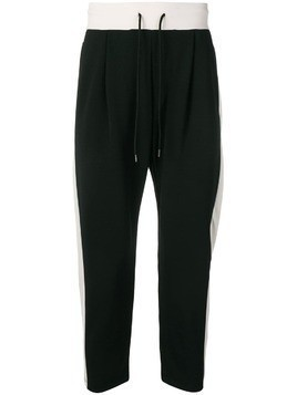 Attachment side stripe track pants - Black