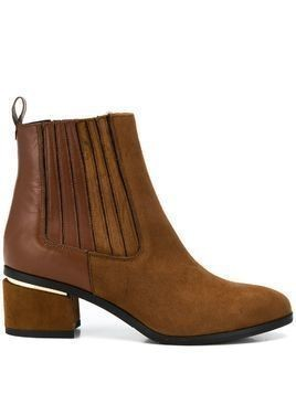 Albano block-heel ankle boots - Brown