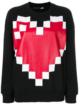 Love Moschino pixel heart sweatshirt - Black