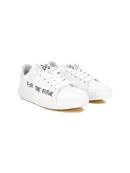 2 Star Kids printed sneakers - White