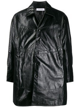 Kiko Kostadinov Preston leather jacket - Black