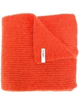 Indress knitted mohair scarf - ORANGE