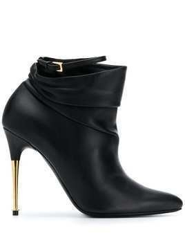 Tom Ford gold-tone heel 110mm ankle boot - Black
