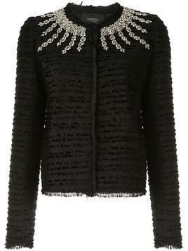 Giambattista Valli rhinestone-embellished tweed jacket - Black