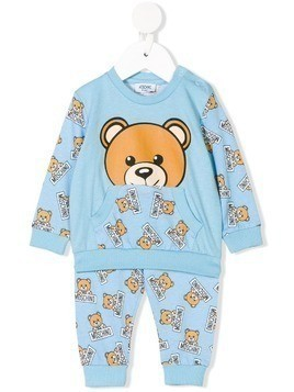 Moschino Kids teddy bear print tracksuit - Blue