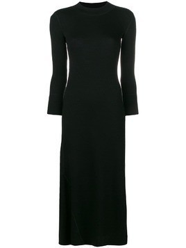 Theory ribbed flounce dress - Black