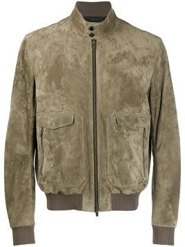 Ajmone zipped bomber jacket - Green