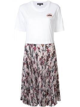 Markus Lupfer pleated t-shirt dress - White