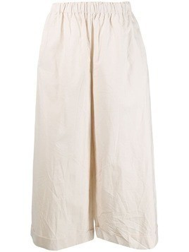 Daniela Gregis high-waisted flared trousers - White