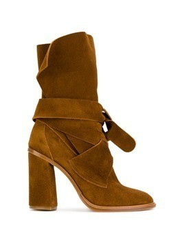 Casadei tie-fastening ankle boots - Brown