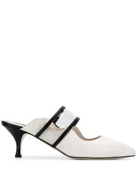 Francesca Bellavita pointed tip mules - White