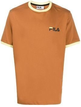 Fila logo embroidered T-shirt - Brown