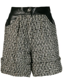 Almaz fabric mix tweed shorts - Grey