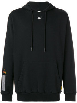 Off-White - industrial tape hoodie - Herren - Cotton - L - Black