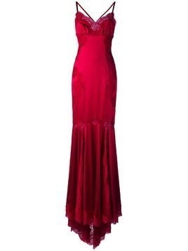 Dolce & Gabbana lace trim gown - Red