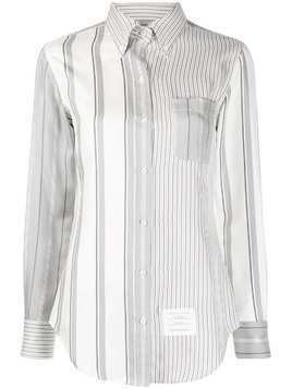 Thom Browne Fun Mix striped button-down shirt - Grey