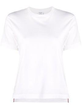 Thom Browne logo-patch short-sleeve T-shirt - White